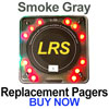 LRS Pager System Components: Coaster Call Guest Pagers (Smoke Gray)